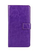Para Funda HTC Cartera / Soporte de Coche / con Soporte / Flip Funda Cuerpo Entero Funda Un Color Dura Cuero Sintético HTC