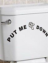 Wall Stickers Wall Decals Style Funny Personality Toilet PVC Wall Stickers