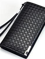 New Casual Leather Men Wallets Coin Purse Brand Business Men's Long Zipper Wallet