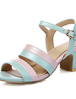 Women's Shoes Chunky Heel Peep Toe / Open Toe Sandals Party & Evening / Dress / Casual Black / Blue