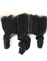 13 funmi brasileña del pelo rizado de color natural frontal del cordón virgen