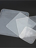 4pcs Clear Reusable Silicone Food Wraps Seal Cover Stretch Multifunctional Food Fresh Keeping Saran Wrap Kitchen Tools