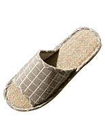 Modern/Contemporary Slide Slippers Men's Slippers Flat Heel Blue / Gray