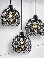 Max 60W Modern Crystal / Mini Style Painting Metal Pendant LightsLiving Room / Bedroom / Dining Room / Kitchen