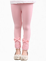 Girl's Black / Blue / Pink / Gray Pants,Patchwork Cotton All Seasons