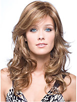 Women Brown Long Body Wave Synthetic Hair Wig