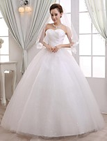 Ball Gown Wedding Dress-Floor-length Sweetheart Lace / Tulle