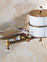 Toilet Paper Holder,Antique Oil Rubbed Bronze Wall Mounted Multifunctional Soap Dish Holder/ Phone Holder
