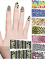 Nail Art Water Transfer Sticker 12 Different Sheets/Set Animal Leopard Designs