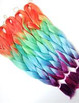 1-12packs / pcs extensões de cabelo trança sintética multi-cor do cabelo da trança alta temperatura 100g