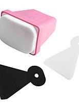 3pcs/set Nail Art Stamper Scraper Kit Polish Design Print Stamping Nail Tools