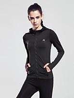 Women Sports Tshirt Zipper Spring Long Sleeve Fitness Coat Running Yoga Jacket More Colors