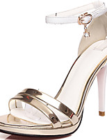 Women's Shoes Patent Leather/Stiletto Heels/Open Toe Sandals Party & Evening/Dress Red/Gray/Gold