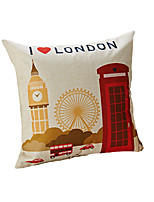 Design Print Love London Decorative Throw Pillow Case Cushion Cover Polyester Material 17inchx17inch for Sofa Home Decor