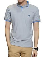 2016 new summer men's short sleeved T-shirt Lapel male youth POLO shirt T-shirt bottoming SHIRT MENS slim