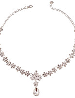 AAA Cubic Zirconia Necklace for Lady Wedding Party Gift with Earrings