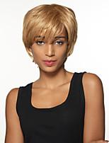 ponible corto naturales remy recta mano del pelo humano pelucas superiores atado para la mujer