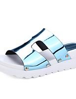Синий / Розовый / Серебристый / Серый / Золотистый-Женская обувь-Для прогулок / Для праздника / На каждый день-Лакированная кожа-На