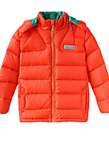 Girl's Blue / Orange Jacket & Coat,Stripes Polyester Winter