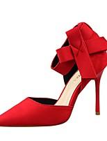 Chaussures Femme-Décontracté-Noir / Rose / Rouge / Gris / Orange-Talon Aiguille-Talons-Talons-Velours