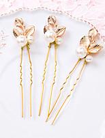 סיכת שיער כיסוי ראש נשים / נערת פרחים חתונה / אירוע מיוחד סגסוגת / דמוי פנינה חתונה / אירוע מיוחד 2 חלקים