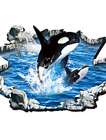3D Wall Stickers Wall Decals Style Whale Undersea Jump PVC Wall Stickers