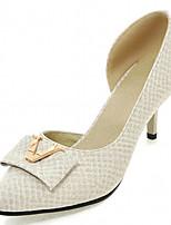 Scarpe Donna-Scarpe col tacco-Tempo libero / Ufficio e lavoro / Formale-Tacchi-A stiletto-Finta pelle-Nero / Beige