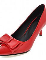 Chaussures Femme-Bureau & Travail / Habillé / Soirée & Evénement-Noir / Rouge-Talon Aiguille-Talons-Talons-Similicuir