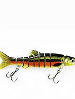 Mmlong Fishing Lures 6# Hook 9 Segment Crankbait Lifelike Slow Sink Swimbait Fishing Trackle Hard Lure  MML12A