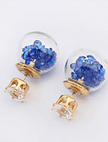 Korean Pop Transparen Wishing Bottle Zircon Earrings