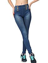 Women Solid Color / Denim Legging,Polyester / Spandex Medium