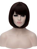 la plupart des perruques synthétiques dame de mode populaire couleur noire courte bobo cheveux raides perruque