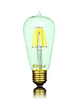 Ampoules Globe LED Gradable / Décorative Blanc Chaud NO 1 pièce ST58 E26 / E26/E27 5W 6 COB 300-500 lm AC 100-240 / AC 110-130 V
