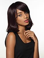 -Top liée perruques attrayante fabuleuse longueur moyenne capless ondulée remy main de cheveux humains