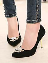 Chaussures Femme-Mariage / Soirée & Evénement-Noir / Rouge-Talon Aiguille-Talons-Talons-Laine synthétique