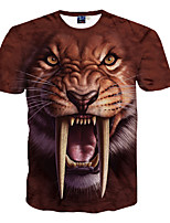 3D Saber-toothed Tiger Pattern Male As Picture Cosplay Beast legion T-shirt