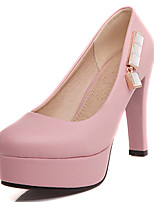 Women's Shoes Leatherette Stiletto Heel Heels Heels Wedding / Office & Career / Party & Evening
