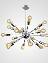 MAX:60W Retro Mini Style Chrome Metal Pendant Lights Dining Room / Study Room/Office / Entry / Hallway