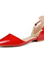 Scarpe Donna-Scarpe col tacco-Tempo libero / Formale / Casual-Comoda-Piatto-Vernice-Nero / Rosso / Grigio
