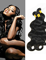 3Pc/Lot Unprocessed 7A Malaysian Remy Human Hair Extension Weft Hair Body Wave Natural Color Hair Bundles