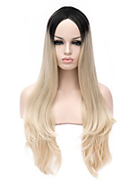Fashional Ombre Wig Cheap Fashion Heat Resistant Synthetic Female Beauty Two-tone Wigs