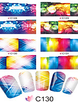 1pcs  Nail Art Water Transfer Stickers Charming Color Image Fashion Magical Light Image C124-131