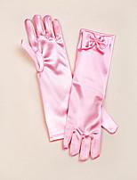 Opera Length Fingertips Glove Satin Flower Girl Gloves