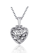 Real 925 Silver Cute Hollow Heart Pendant Open Close Necklace With Love Pink Heart-shaped Rhinestone Women Jewelry