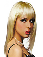 Fashion Long Natural Straight of High Quality Blonde Color Synthetic Wigs