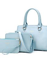 Sac à Bandoulière / Cabas-Beige / Bleu / Or / Noir / Multicolore-Baguette-Polyuréthane-Femme
