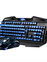 Wired  USB Gaming Keyboard 2400DPI Mouse and Pad 3 Pieces a Set