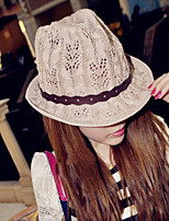 Women Straw Decorative Border Fedora Hat,Cute / Party / Casual Spring / Summer / Fall