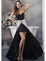 Formal Evening Dress-Silver Sheath/Column Sweetheart Floor-length Sequined