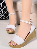 Women's Shoes Suede Flange Comfort Elegance Wedge Heel Peep Toe / Platform Sandals Dress / Casual
